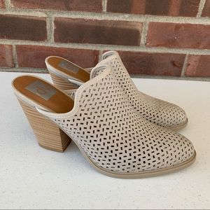 Like new DV by Dolce Vita chunky heel slide mules